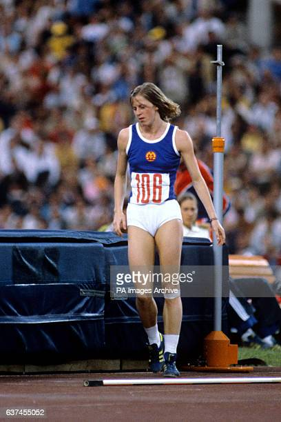 East Germany's Rosemarie Ackermann gold medallist