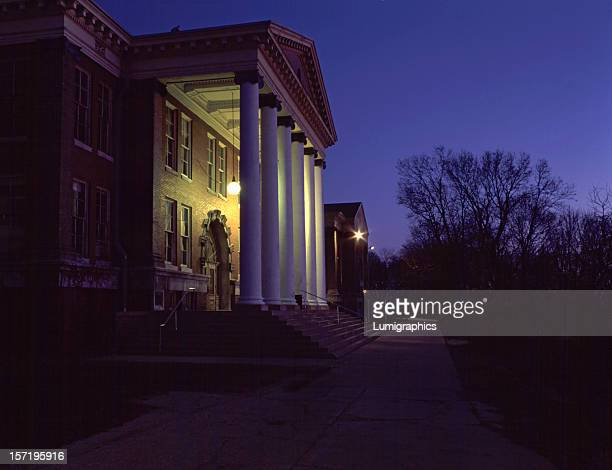 east hall at dawn - kalamazoo stock pictures, royalty-free photos & images
