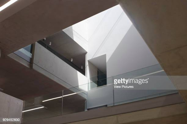 East Ham Library and Customer Service Centre London United Kingdom Architect Rick Mather Architects 2014 Interior view looking up to other levels