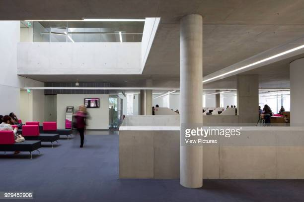 East Ham Library and Customer Service Centre London United Kingdom Architect Rick Mather Architects 2014 Interior view of 1st floor of Library