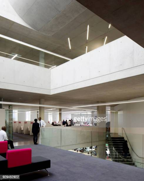East Ham Library and Customer Service Centre London United Kingdom Architect Rick Mather Architects 2014 Interior view of 1st floor