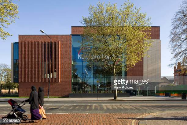East Ham Library and Customer Service Centre London United Kingdom Architect Rick Mather Architects 2014 Exterior view of North facade