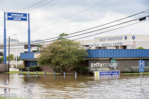 East Houston Medical Center and Gonzalez Family Occupational Medicine on I10 still has water standing during Hurricane Harvey Wednesday August 30 2017