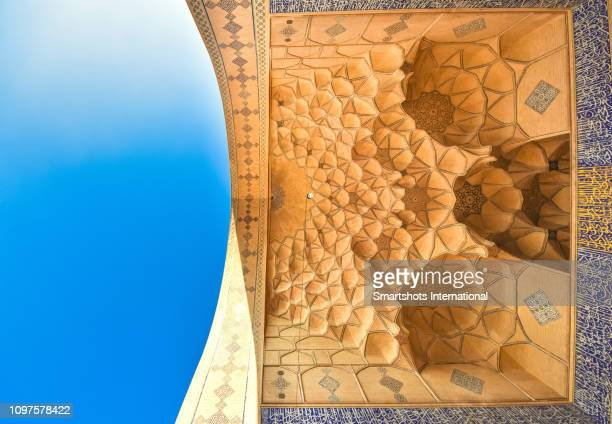 east iwan of masjed-e jameh mosque (friday mosque) of isfahan, iran - mosque stock pictures, royalty-free photos & images