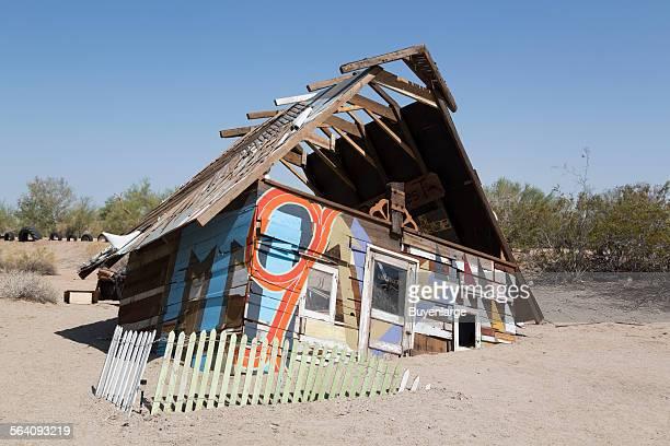 East Jesus is an experimental, habitable, extensible artwork in progress since 2006. Slab City, California