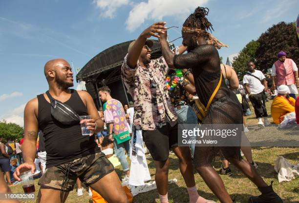 East London celebrate the UK Black Pride in Haggerston Park in London United Kingdom on July 7th 2019