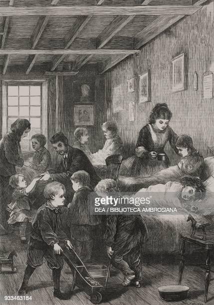 East London Children Hospital detail London United Kingdom illustration from the magazine The Illustrated London News volume LX April 27 1872