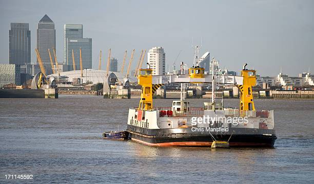 East London Skyline with Woolwich Ferry