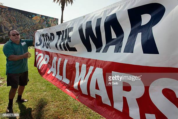 East Los Angeles CA Members of the peace groups hold press conference at Salazar Park in East Los Angeles located at 3800 block of Whittier Blvd...