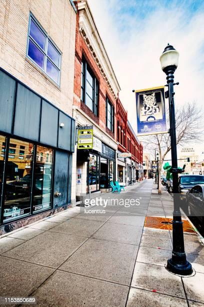 east main street, bozeman, montana, usa - bozeman stock pictures, royalty-free photos & images