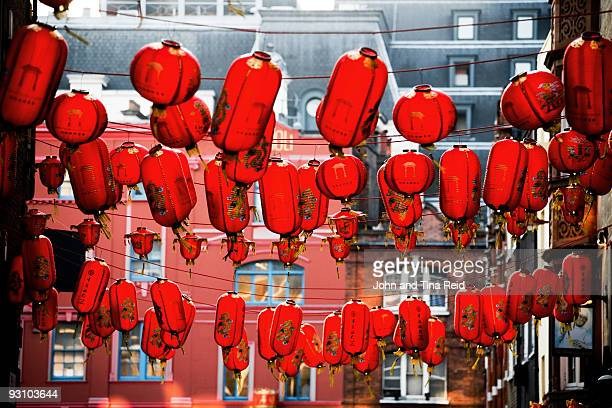 east meets west - chinatown stock photos and pictures