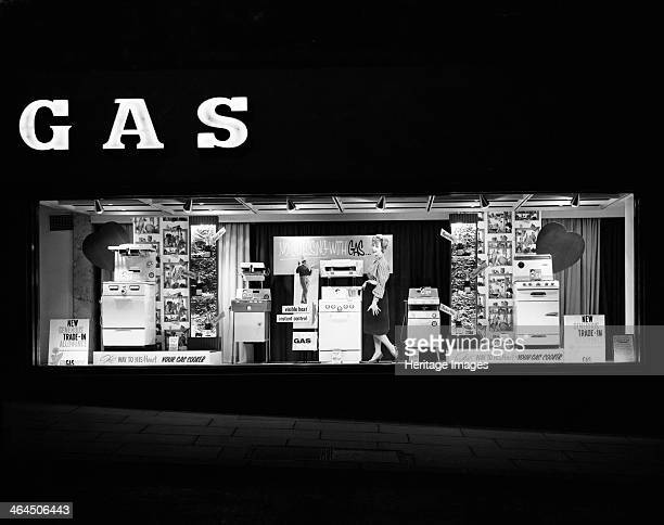 East Midlands Gas Board shop window display Commercial Street Sheffield South Yorkshire 1961 For their July 1961 window display in Commercial Street...