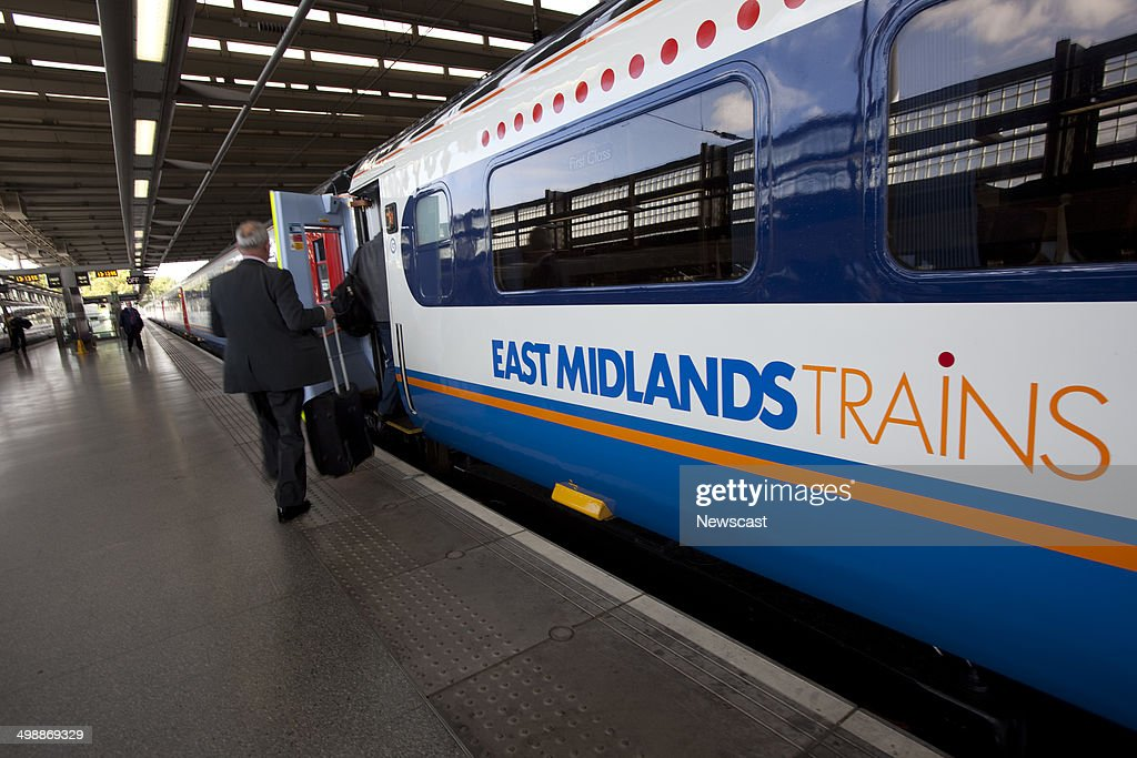 East Midlands Trains services at St Pancras station. : News Photo