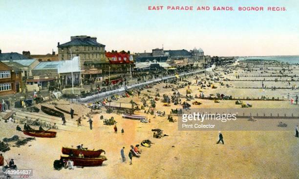 East Parade and Sands, Bognor Regis, West Sussex, 1950.
