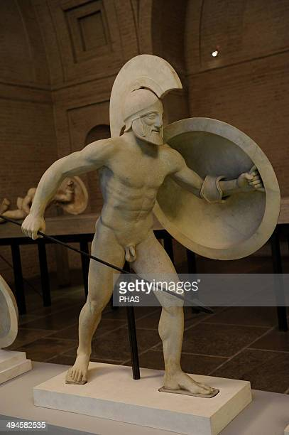 East Pediment's Group of the Temple of Aegina Aphaia Greece Reconstruction of a warrior 19th century Glyptothek Museum Munich Germany