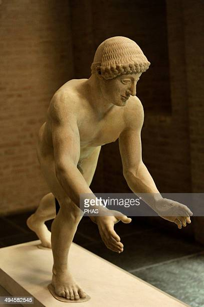 East Pediment's Group of the Temple of Aegina Aphaia Greece Reconstruction of a helper 19th century Glyptothek Museum Munich Germany