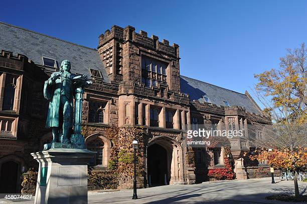 east pyne hall in princeton university - ivy league university stock photos and pictures