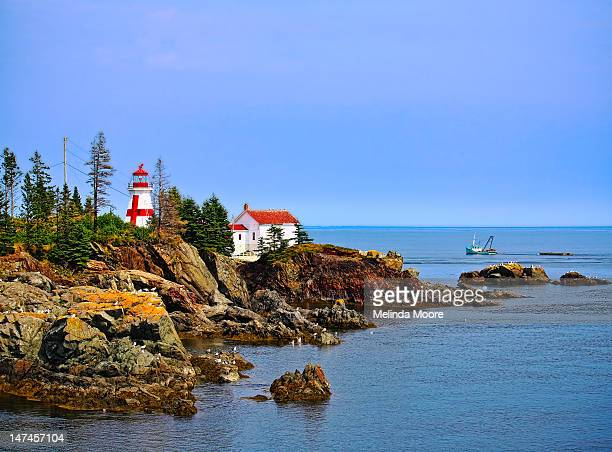 East Quoddy Lighthouse with Boat
