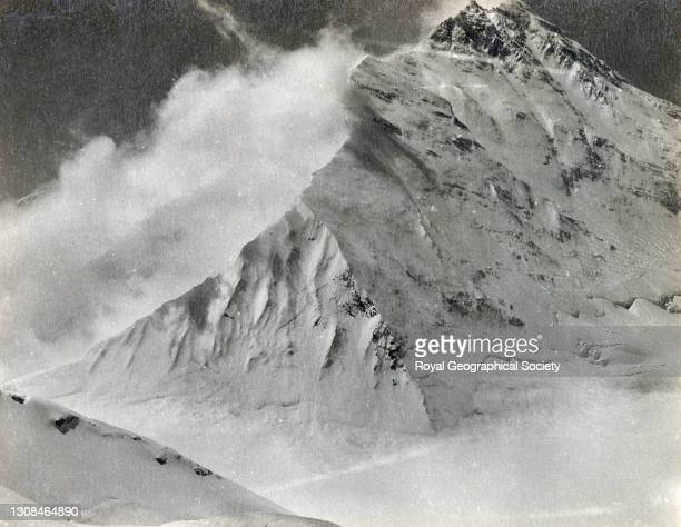 East ridge of Everest from Lhakpa La 22,500 feet. By C.K. Howard-Bury. Mount Everest Expedition 1921.