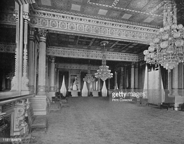 East Room of the White House Washington DC' circa 1897 Beaux Arts paneling in the East Room an event and reception room in the White Hous official...