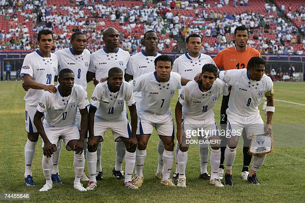 The team from Honduras before their match against Panama in the first round CONCACAF Gold Cup match 08 June 2007 at Giants Stadium in East Rutherford...
