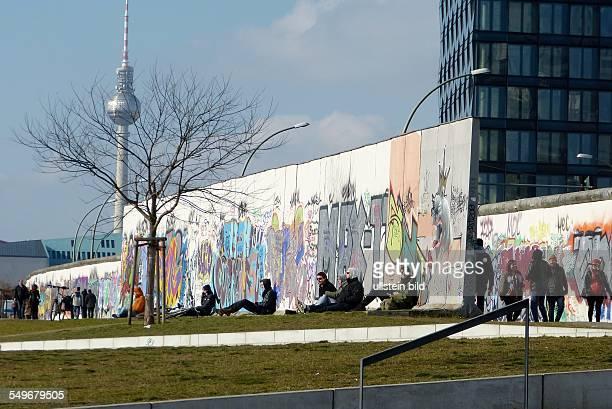 East Side Gallery Berlin former Berlin Wall border between East and West
