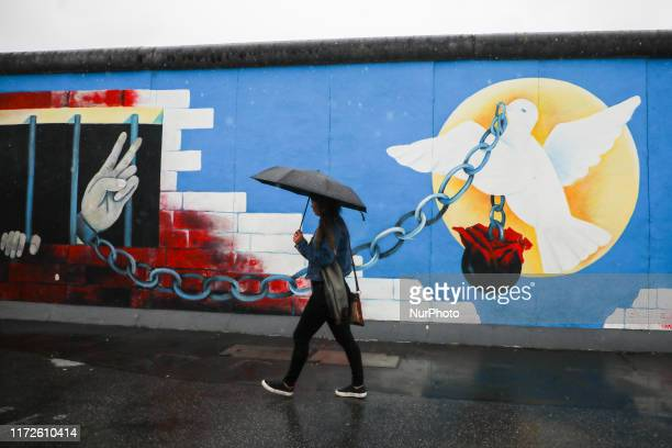 East Side Gallery in Berlin Germany on 26th September 2019 TheEast Side Gallery consists of 105 paintings by artists from all over the world painted...