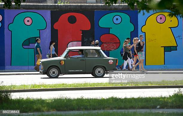 East Side Gallery in Berlin preserved part of the former Berlin Wall in the original location between Friedrichshain and Kreuzberg today an openair...