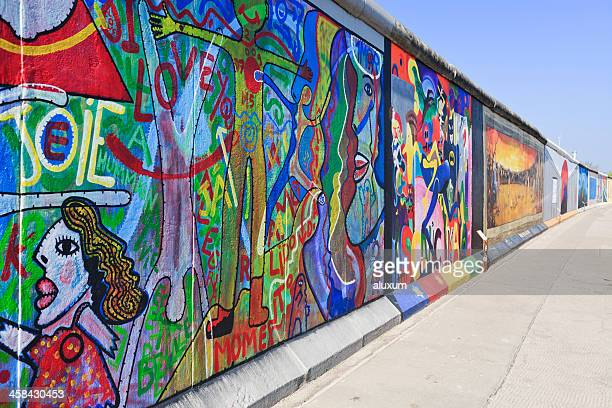east side gallery wall of berlin germany - berlin stock pictures, royalty-free photos & images