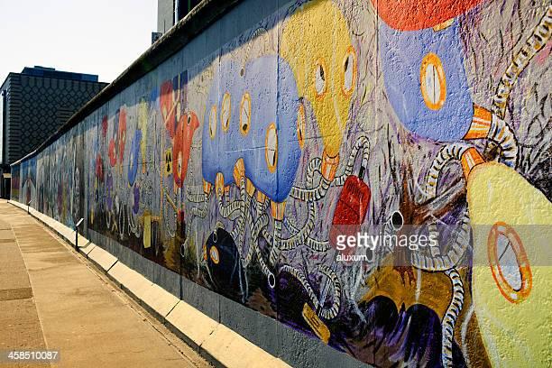 東側のギャラリーのドイツのベルリンの壁