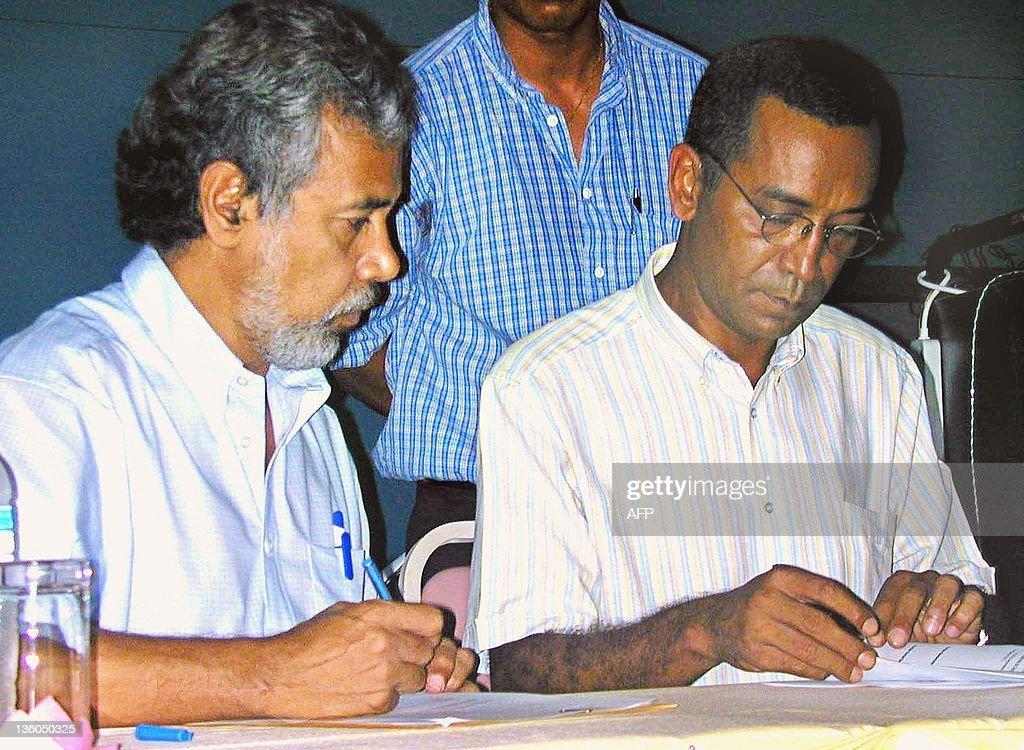East Timor independence leader Xanana Gu : Nachrichtenfoto