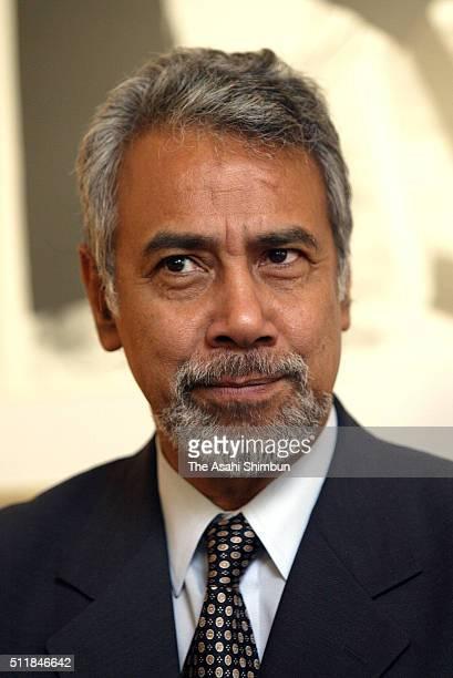 East Timor President Xanana Gusmao is seen on February 251 2004 in Tokyo Japan