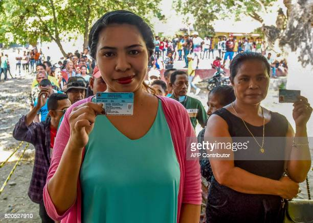 East Timorese line up to vote during parliamentary election in Dili on July 22 2017 East Timor headed to the polls to elect a new parliament as...