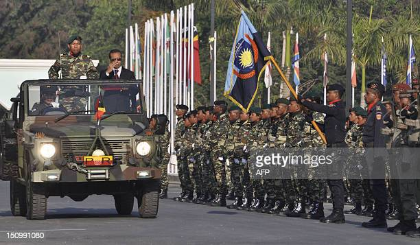 East Timorese President Taur Matan Ruak inspects soldiers in Dili on August 30 2012 during the 13th referendum anniversary ceremony a turning point...