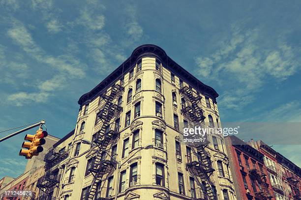 east village corner - east village stock pictures, royalty-free photos & images