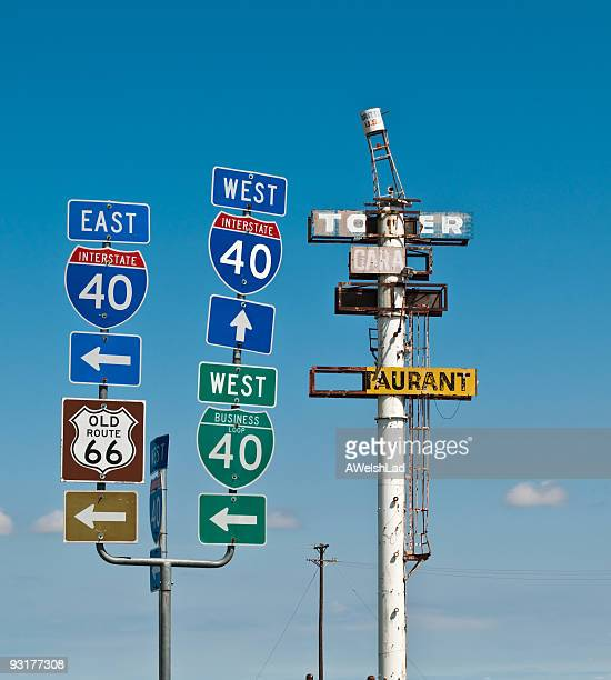East West 40, Old Route 66 road signs, Britten USA