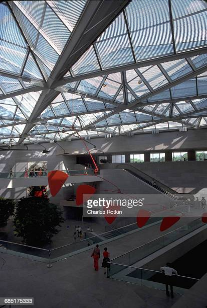 East Wing of the National Gallery with mobile by Alexander Calder