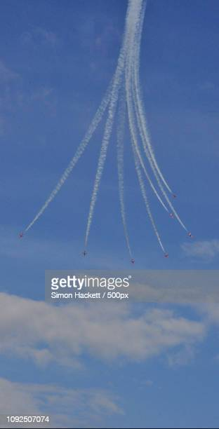 eastbourne airbourne - red arrows - hackett stock photos and pictures