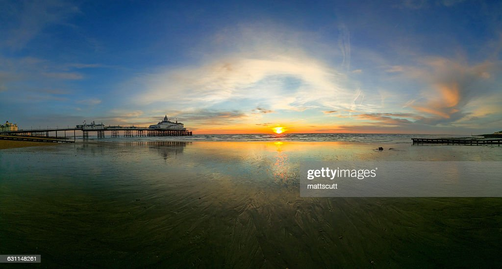 Eastbourne pier at Sunrise, East Sussex, England, UK : Stock Photo
