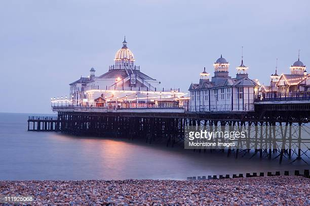 eastbourne pier in east sussex, england - eastbourne stock pictures, royalty-free photos & images