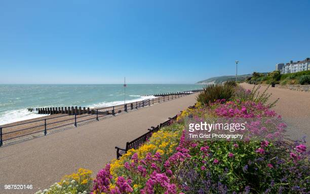 eastbourne seafront and beachy head, east sussex, uk - eastbourne stock pictures, royalty-free photos & images