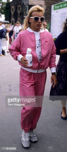 Eastbourne, UK June 15th 1991. Martina Navratilova at Womens Tennis Tournament