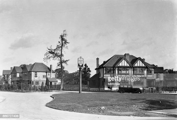 Eastcote Park estate and public house being built in Hillingdon Circa 1936