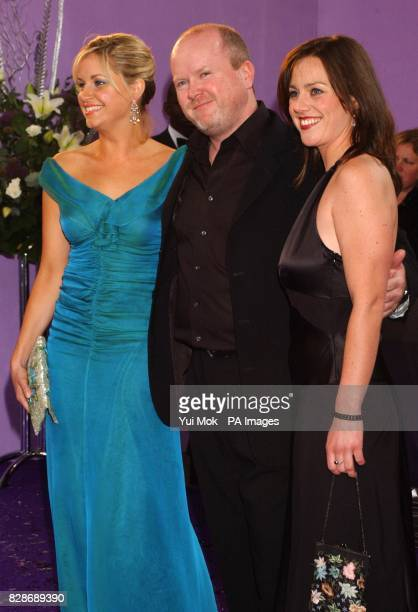 Eastenders actors from left to right Kim Medcalf Steve McFadden and Jill Halfpenny arrive for the British Soap Awards 2003 at BBC Television Centre...