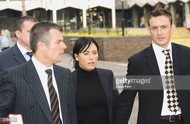 Eastenders actress Jessie Wallace real name Karen Jane Wallace attends her trial for drunk driving at Southend Magistrates Court on November 27 2003...