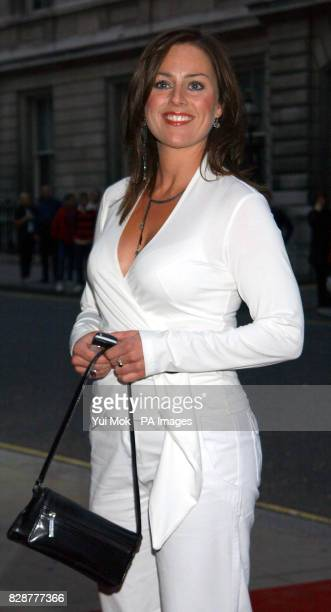 Eastenders actress Jill Halfpenny arrives for the GQ Man of the Year Awards at The Royal Opera House in central London