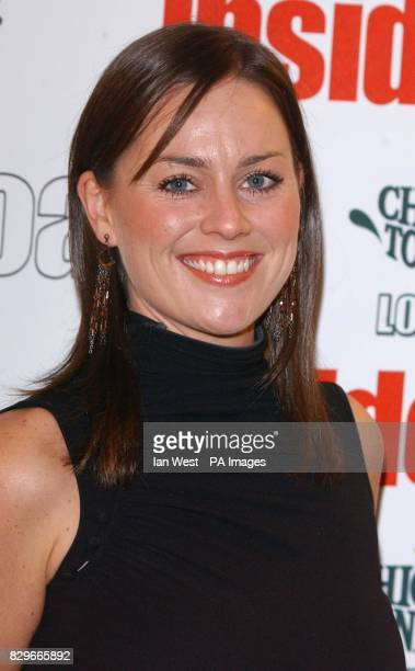 Eastenders actress Jill Halfpenny arrives for the Inside Soap Awards 2003 at La Rascasse in central London