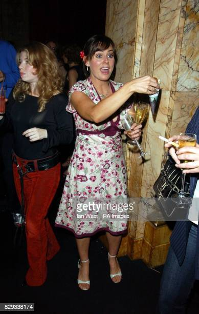 Eastenders actress Jill Halfpenny during the afterparty for the Inside Soap Awards 2004 at the Atlantic Bar on Glasshouse Street in central London