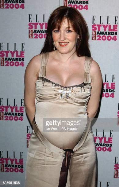 Eastenders actress Kacey Ainsworth who is six and a half months pregnant at the Elle Style Awards 2004 at the Natural History Museum in south London...