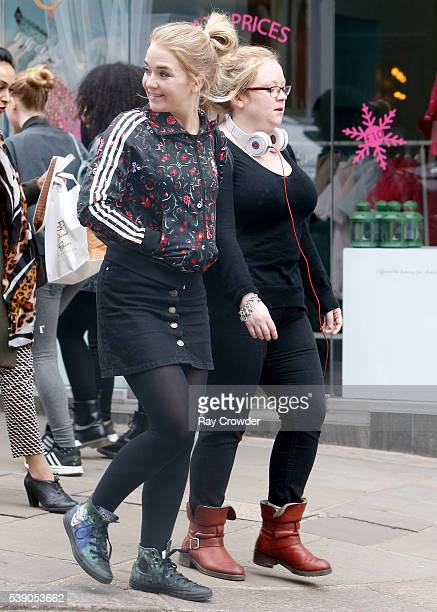 Eastenders actress Lorna Fitzgerald sighting on June 08 2016 in London United Kingdom